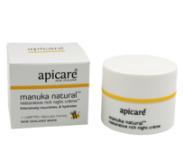 Apicare Mānuka Natural Restorative Rich Night Crème 50g