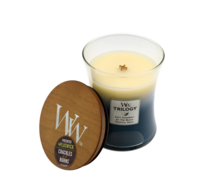 Woodwick Beachfront Cottage Trilogy Candle - Medium
