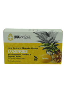 BeeVantage Throat Lozenges with Pineapple, Tumeric & Coconut Water