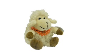 Sheep Toy Orange Bandana Small