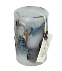 Small Paua Cylinder Candle
