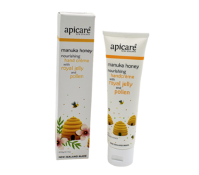 Apicare Mānuka Honey Nourishing Hand Crème with Royal Jelly and Pollen 90g