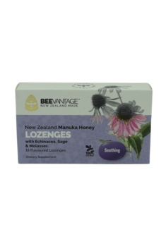 BeeVantage Throat Lozenges with Echinacea, sage & Molasses